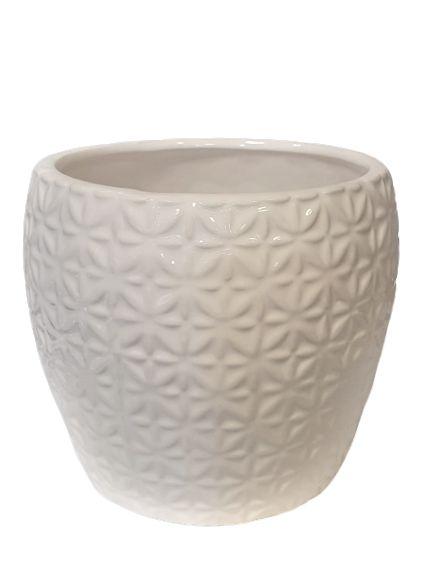 Vaso Decorativo Branco em Ceramica M