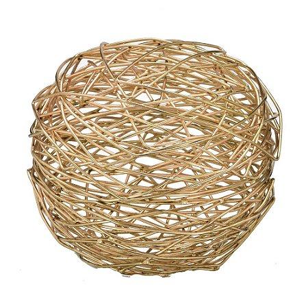 Bola Decorativa em Metal Acobreada