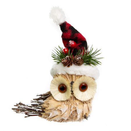 Coruja Hat com gorro natalino