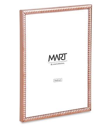 PORTA-RETRATO ROSE GOLD EM METAL - 10X15cm