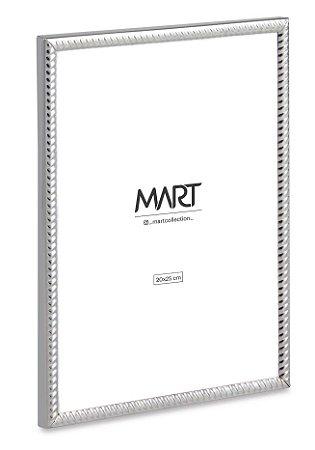 PORTA-RETRATO PRATA EM METAL - 20X25cm