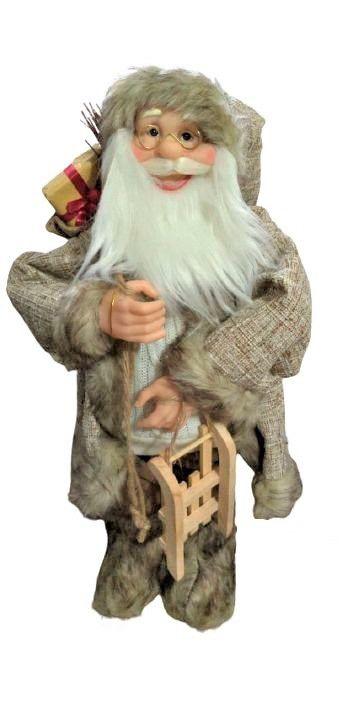 . Papai Noel em Pe com saco de presente marrom