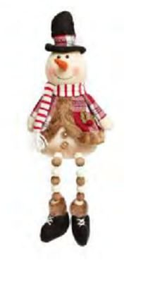 Boneco de Neve Perna Micangas Candy