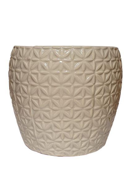 Vaso Decorativo Off White em Ceramica P