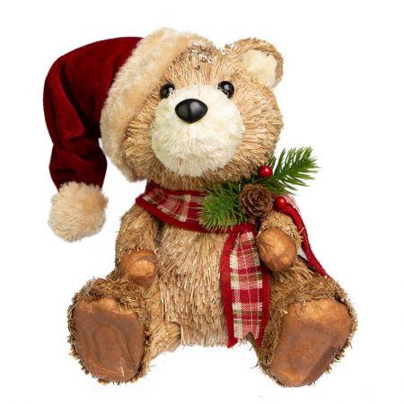 Urso Sentado com gorro natalino