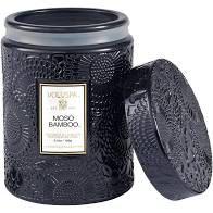 MINI VELA VOLUSPA POTE VIDRO 50H RELEVO MOSO BAMBOO 156g
