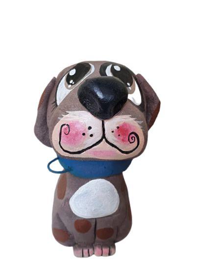 Cachorro Decorativo Cimento Bento