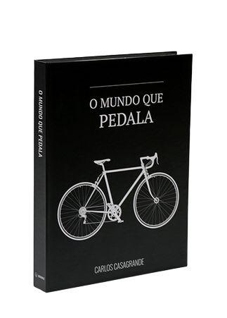 CAIXA LIVRO BOOK BOX METALIZADO O MUNDO QUE PEDALA