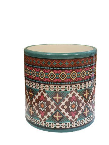 Cachepot Ceramica Estilo Etnico G