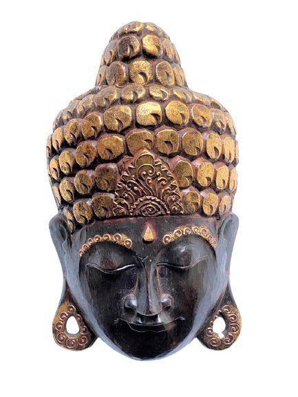 Mascara Buda Decorativo de Madeira de Bali