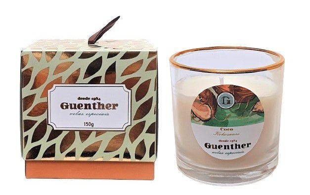 Vela Perfumada Copo Aroma Coco 150g - Guenther