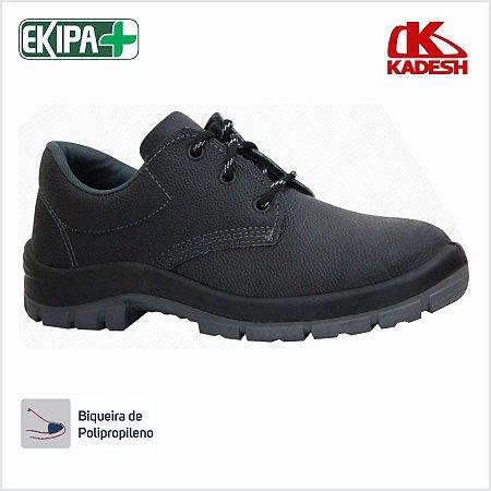 Sapato de Segurança com Cadarço Bico PVC Solado Bidensidade Kadesh Flex