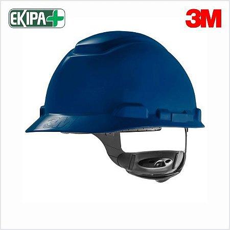 CAPACETE ABA FRONTAL COM JUGULAR COM CATRACA H-700 3M CA 29638