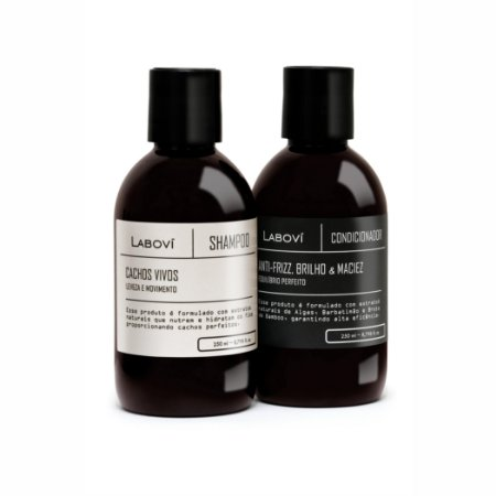 Shampoo Cachos Vivos + Condicionador Anti-Frizz, Brilho e Maciez