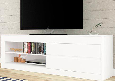 Rack Para Tv Uno Branco