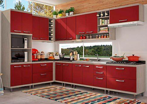 Armário De Cozinha Modulada Verônica 16 Peças