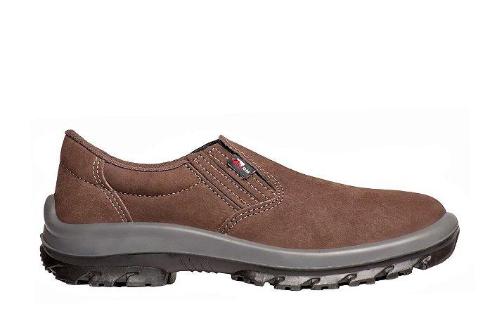 Sapato Elástico S/ Bico de Aço Nobuck