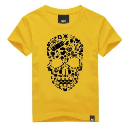 CAMISETA INFANTIL SKULL ELEMENTS ART ROCK