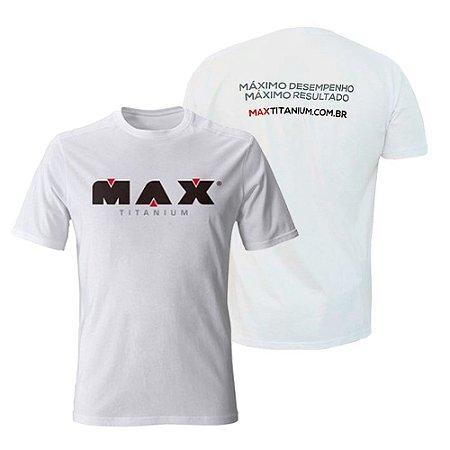 CAMISETA BRANCA DRY FIT - MAX TITANIUM 5443