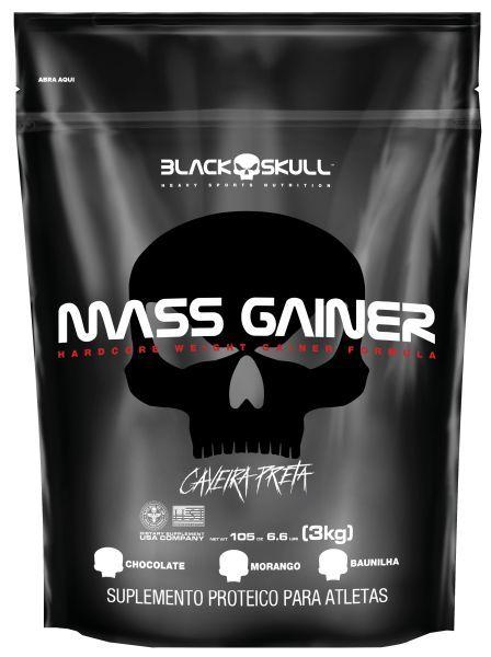 MASS GAINER REFIL - 3KG - BLACK SKULL