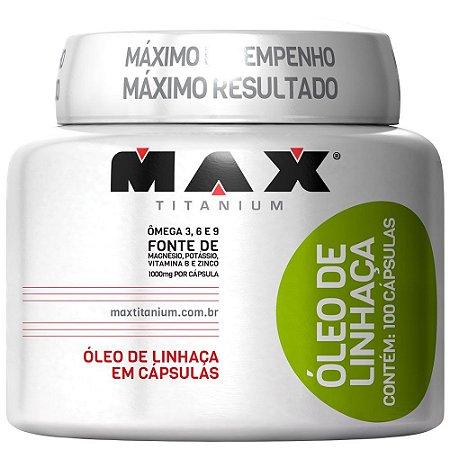 OLEO DE LINHACA  - 100CAPS - MAX TITANIUM