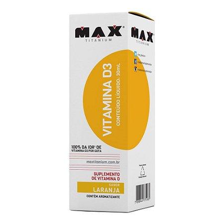 VITAMINA D3 - 30ML - MAX TITANIUM
