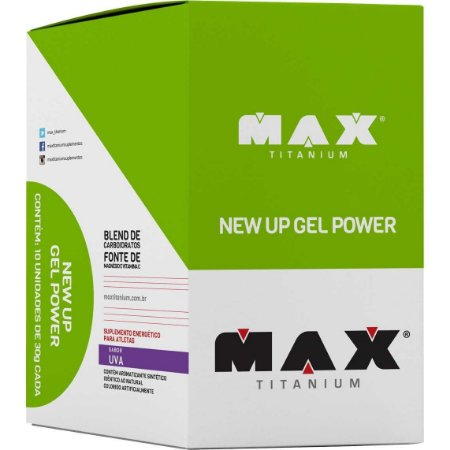 NEW UP GEL POWER - LANCAMENTO - 1 CAIXA C/ 10 Und. - MAX TITANIUM
