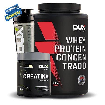 Kit Whey Protein Concentrado + Creatina + Brinde - Dux Nutrition