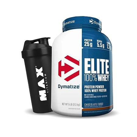 Elite 100% Whey 5lbs (2,3Kg) - Dymatize + Coqueteleira