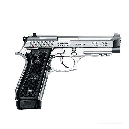 Arma de fogo modelo PT 59 Inox Fosco - 380 / Taurus