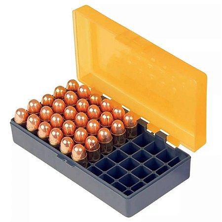 Case para 50 Munições Cal .45 - .10mm - .40 - .41/ Marca Smart Reloader - Laranja