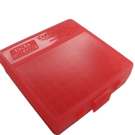 Case para 100 Munições Cal .38 .357 .38 Super MTM Vermelha