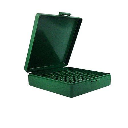 Case para 100 Munições Cal .45 Acp 10mm .40 .41MTM Verde