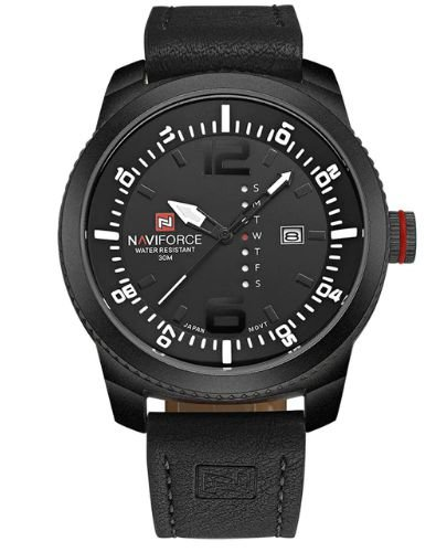 ea52ed7f958fc Relógio Masculino Esportivo Militar Couro Naviforce Na Caixa - GEMBA ...