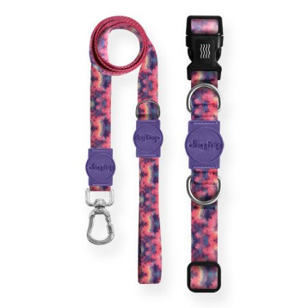 Kit Guia Premium + Coleira Premium Love Tie Dye
