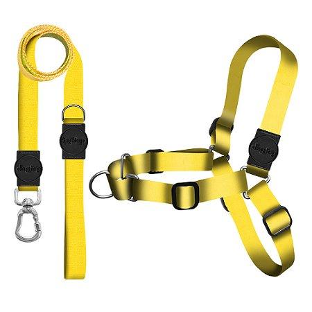 Kit Guia Premium + Peitoral Antipuxão Classic Yellow