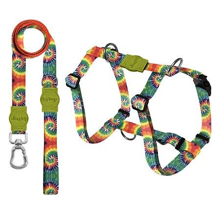 Kit Guia Premium + Peitoral Smart Peace Tie Dye