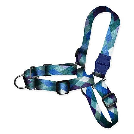 Peitoral Antipuxão Quadriculado Azul