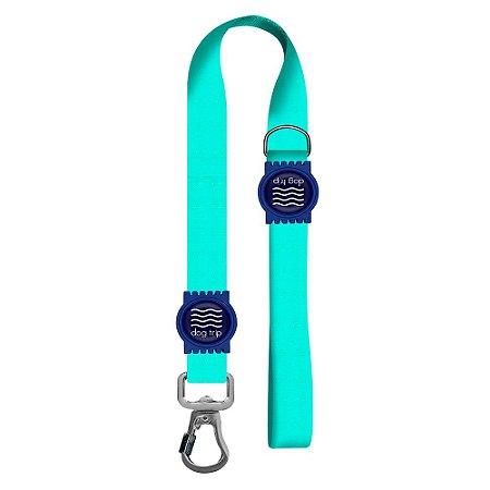 Guia Premium Curta Classic Aquamarine Borracha Azul