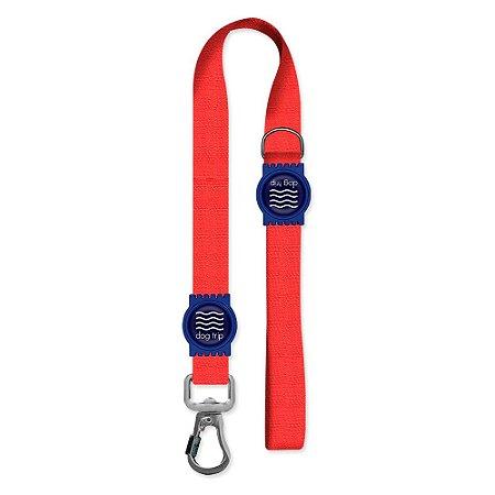 Guia Premium Curta Classic Red Borracha Azul