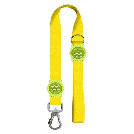 Guia Premium Curta Classic Yellow Borracha Verde