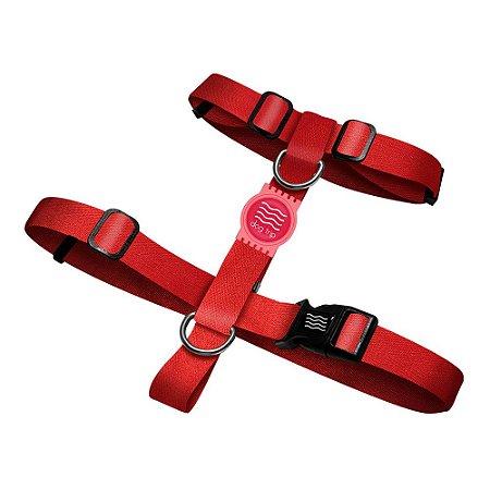 Peitoral Premium Classic Red Borracha Rosa