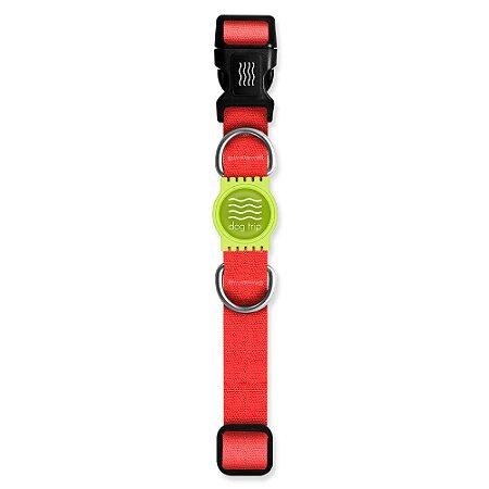 Coleira Premium Classic Red Borracha Verde