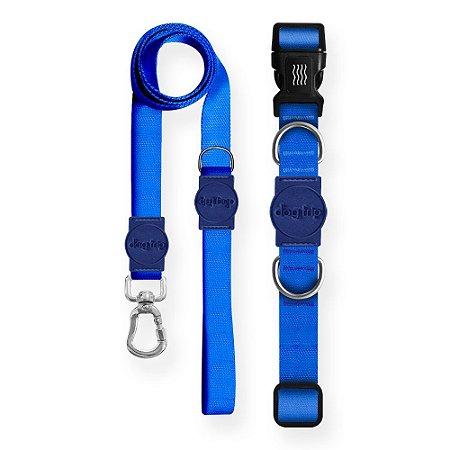 Kit Guia Premium + Coleira Premium Classic Blue