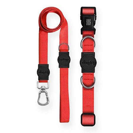 Kit Guia Premium + Coleira Premium Classic Red