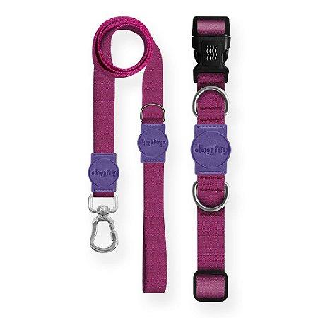 Kit Guia Premium + Coleira Premium Classic Purple