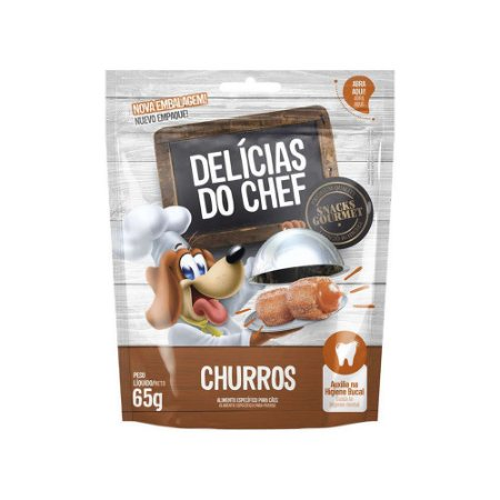 Petisco Snack Delicias do Chef Mini Churros 65G