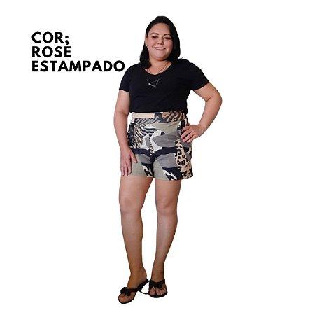 Short Feminino De Malha Cintura Alta Confortável