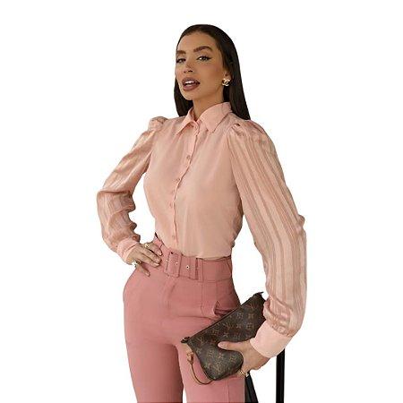 Camisa Feminina Básica e Elegante Casual Chic