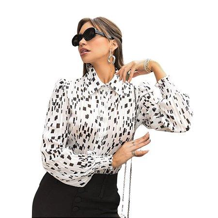 Camisa Social Feminina Confortável Elegante Casual Chic